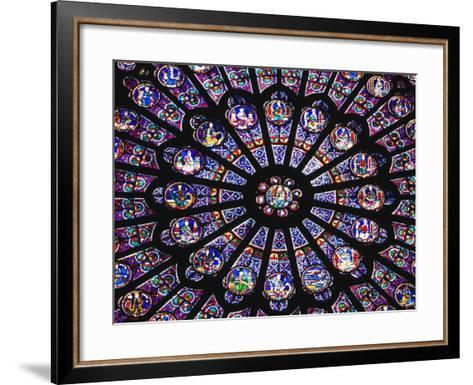Rose Window in the Notre Dame Cathedral-Design Pics Inc-Framed Art Print