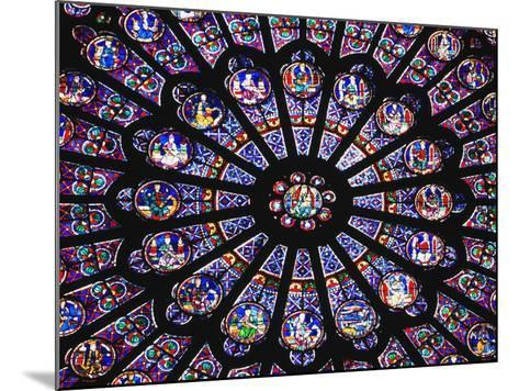 Rose Window in the Notre Dame Cathedral-Design Pics Inc-Mounted Photographic Print