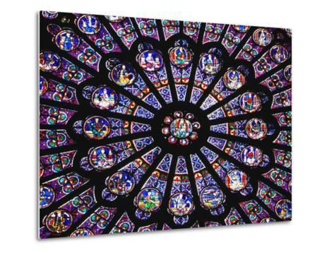 Rose Window in the Notre Dame Cathedral-Design Pics Inc-Metal Print