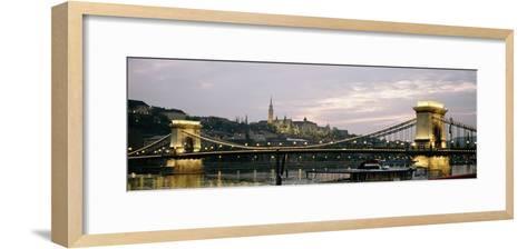 Chain Bridge, River Danube and Matyas Church at Dusk-Design Pics Inc-Framed Art Print
