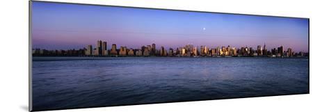 Moon over Midtown Manhattan Skyline at Dusk-Design Pics Inc-Mounted Photographic Print