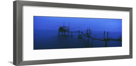 Old Fishing Platform over Water at Dusk-Design Pics Inc-Framed Art Print