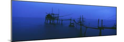 Old Fishing Platform over Water at Dusk-Design Pics Inc-Mounted Photographic Print