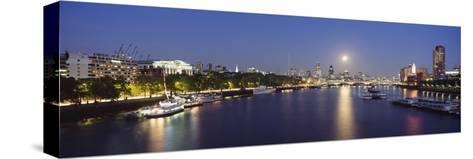 Looking Down the Thames at Dusk-Design Pics Inc-Stretched Canvas Print