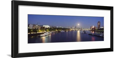 Looking Down the Thames at Dusk-Design Pics Inc-Framed Art Print