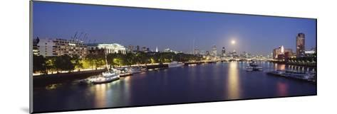Looking Down the Thames at Dusk-Design Pics Inc-Mounted Photographic Print