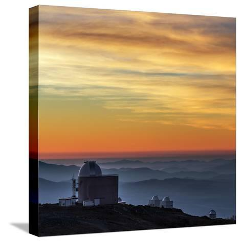 Sunset over the La Silla Observatory and Inversion Layers-Babak Tafreshi-Stretched Canvas Print