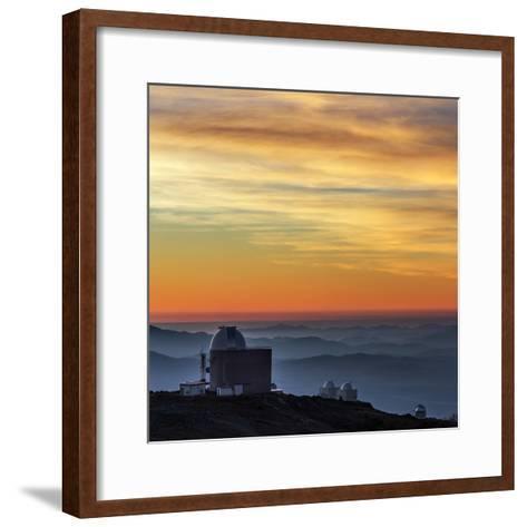 Sunset over the La Silla Observatory and Inversion Layers-Babak Tafreshi-Framed Art Print