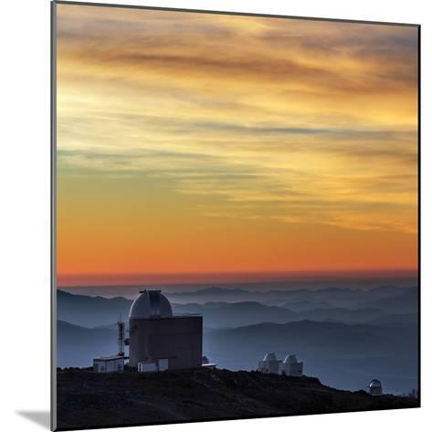 Sunset over the La Silla Observatory and Inversion Layers-Babak Tafreshi-Mounted Photographic Print