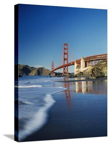 Looking Along Baker Beach Towards the Golden Gate Bridge, Blurred Motion-Design Pics Inc-Stretched Canvas Print
