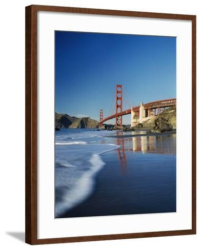 Looking Along Baker Beach Towards the Golden Gate Bridge, Blurred Motion-Design Pics Inc-Framed Art Print