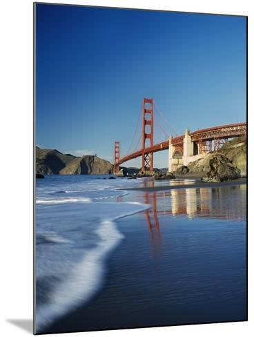 Looking Along Baker Beach Towards the Golden Gate Bridge, Blurred Motion-Design Pics Inc-Mounted Photographic Print