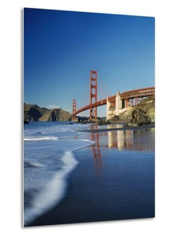 Looking Along Baker Beach Towards the Golden Gate Bridge, Blurred Motion-Design Pics Inc-Metal Print
