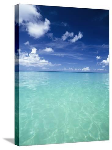Waters Off the West Coast of Barbados,Beach Water Ocean Horizon-Design Pics Inc-Stretched Canvas Print