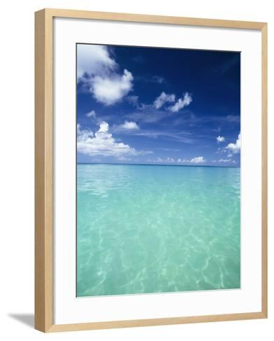 Waters Off the West Coast of Barbados,Beach Water Ocean Horizon-Design Pics Inc-Framed Art Print