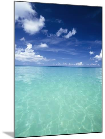 Waters Off the West Coast of Barbados,Beach Water Ocean Horizon-Design Pics Inc-Mounted Photographic Print