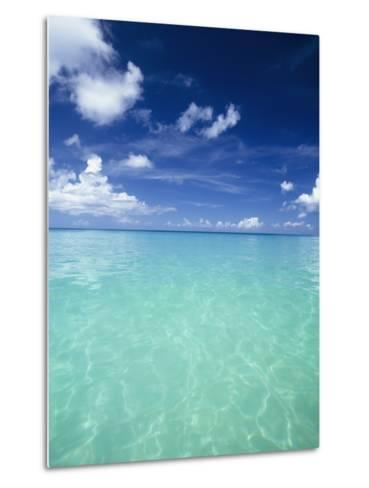 Waters Off the West Coast of Barbados,Beach Water Ocean Horizon-Design Pics Inc-Metal Print