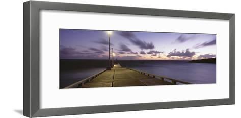 Pier and Coastline Just before Dawn-Design Pics Inc-Framed Art Print