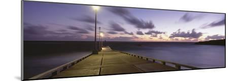 Pier and Coastline Just before Dawn-Design Pics Inc-Mounted Photographic Print