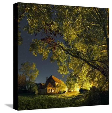 Night Sky over Historic Buildings of the Arnsburg Kloster, Founded in the 12th Century-Babak Tafreshi-Stretched Canvas Print