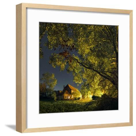 Night Sky over Historic Buildings of the Arnsburg Kloster, Founded in the 12th Century-Babak Tafreshi-Framed Art Print
