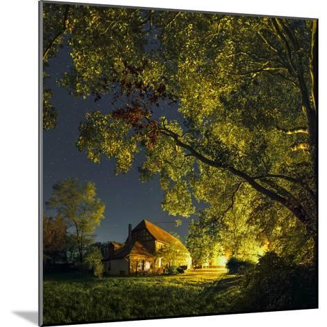 Night Sky over Historic Buildings of the Arnsburg Kloster, Founded in the 12th Century-Babak Tafreshi-Mounted Photographic Print