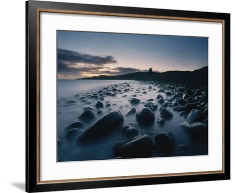 Large Boulders on Beach Near Dunstanburgh Castle at Dawn-Design Pics Inc-Framed Art Print