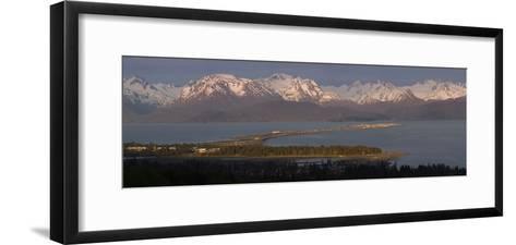 Alpenglow Light on Homer Spit and Kenai Mountains Kachemak Bay Kenai Peninsula Alaska Summer-Design Pics Inc-Framed Art Print