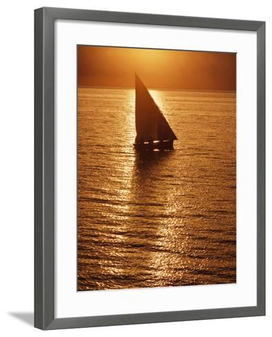 Dhow Heading Out to Sea at Dawn-Design Pics Inc-Framed Art Print