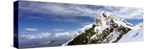 Summit of Monch Mountain in Bernese Alps-Design Pics Inc-Stretched Canvas Print