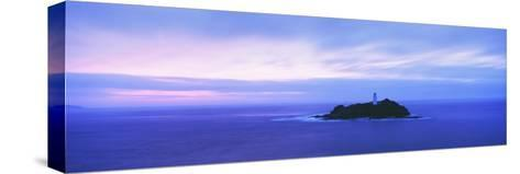 Lighthouse at Dusk Near St. Ives-Design Pics Inc-Stretched Canvas Print
