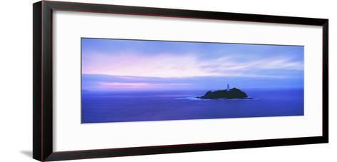 Lighthouse at Dusk Near St. Ives-Design Pics Inc-Framed Art Print