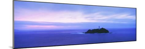 Lighthouse at Dusk Near St. Ives-Design Pics Inc-Mounted Photographic Print