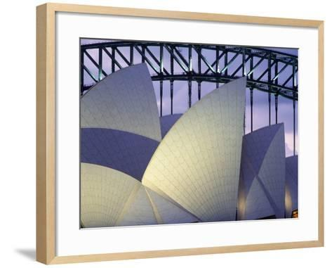 Looking over the Opera House to the Sydney Harbor Bridge, Close Up-Design Pics Inc-Framed Art Print