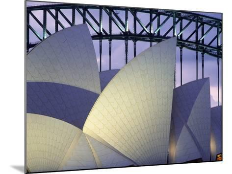 Looking over the Opera House to the Sydney Harbor Bridge, Close Up-Design Pics Inc-Mounted Photographic Print