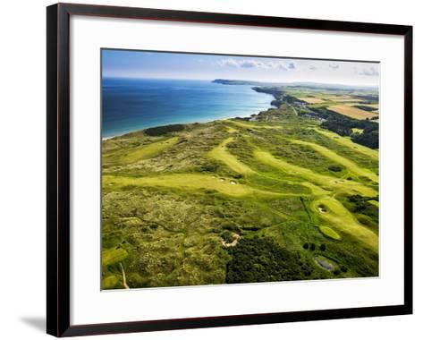 Aerial of Royal Portrush Golf Club on the North Coast of Northern Ireland-Chris Hill-Framed Art Print