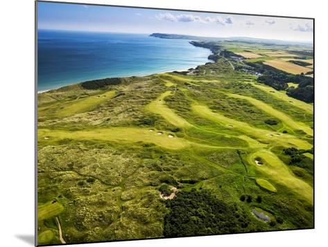 Aerial of Royal Portrush Golf Club on the North Coast of Northern Ireland-Chris Hill-Mounted Photographic Print