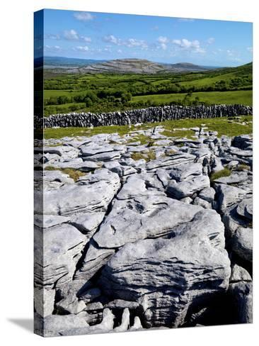 A View Towards Mullaghmore in the Burren, County Clare, Ireland-Chris Hill-Stretched Canvas Print