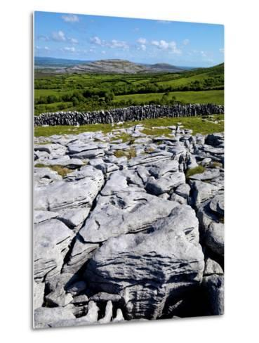 A View Towards Mullaghmore in the Burren, County Clare, Ireland-Chris Hill-Metal Print