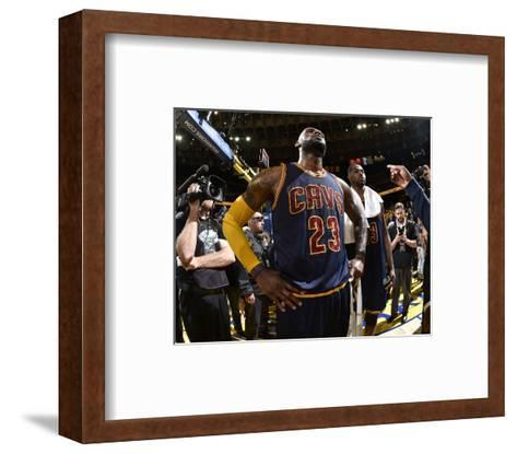2015 NBA Finals - Game Two-Andrew D Bernstein-Framed Art Print