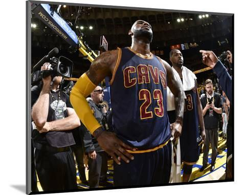 2015 NBA Finals - Game Two-Andrew D Bernstein-Mounted Photo