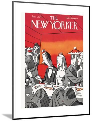 The New Yorker Cover - January 1, 1944-Peter Arno-Mounted Premium Giclee Print