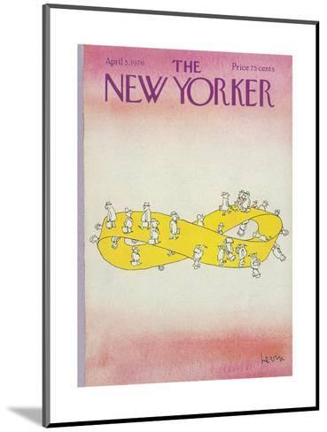 The New Yorker Cover - April 5, 1976-Arnie Levin-Mounted Premium Giclee Print