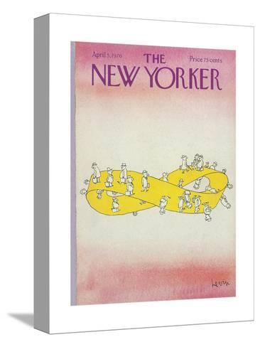 The New Yorker Cover - April 5, 1976-Arnie Levin-Stretched Canvas Print