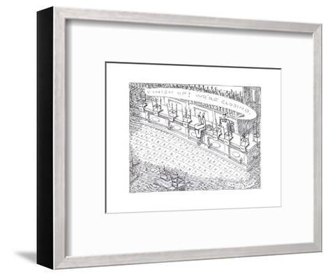 Closing time at bar - Cartoon-John O'brien-Framed Art Print