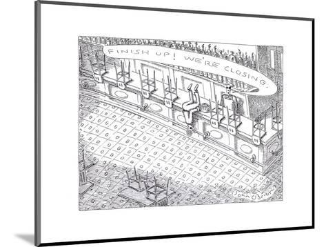 Closing time at bar - Cartoon-John O'brien-Mounted Premium Giclee Print