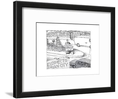 Second Homeless - Cartoon-John O'brien-Framed Art Print