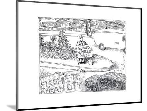 Second Homeless - Cartoon-John O'brien-Mounted Premium Giclee Print