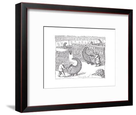 Cornucopia Shoppers - Cartoon-John O'brien-Framed Art Print