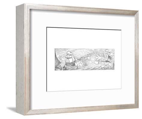 Cartoon-John O'brien-Framed Art Print